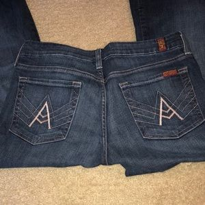Size 28x33 7 for all mankind Jeans
